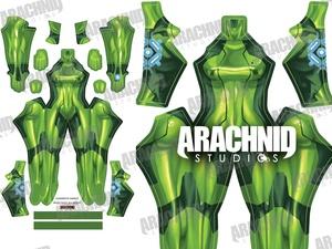 Samus Zero Suit (Green) Dye-sub pattern