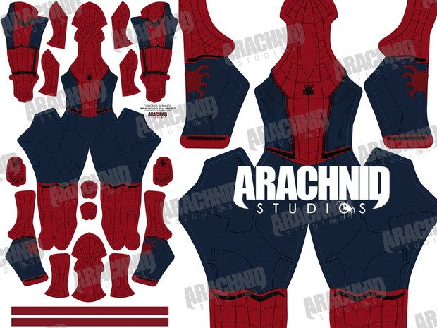 **OLD Version** Civil War Spider-Man Dye-sub Pattern (Without Muscle Shading)
