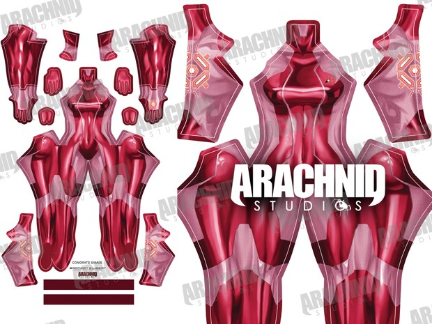 Samus Zero Suit (Red) Dye-sub pattern