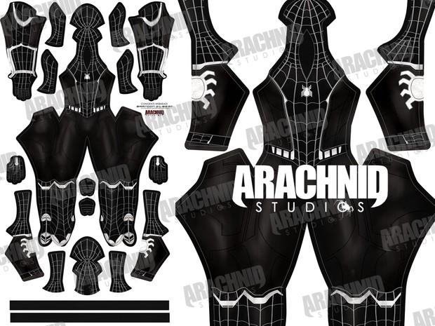 Civil War Symbiote Spider-Man Dye-sub pattern
