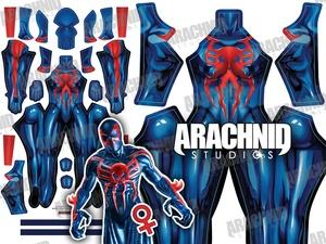 Spider-Man 2099 FEMALE Version Dye-sub pattern