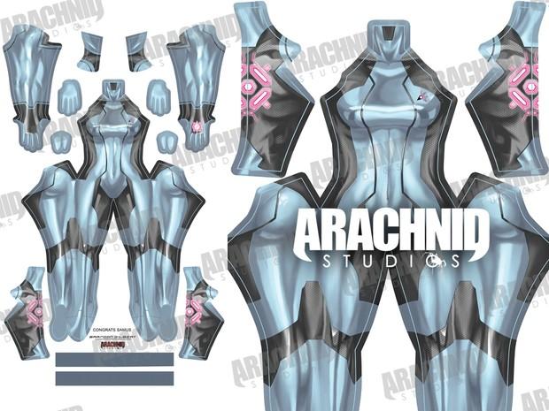 Samus Zero Suit (Silver) Dye-sub pattern