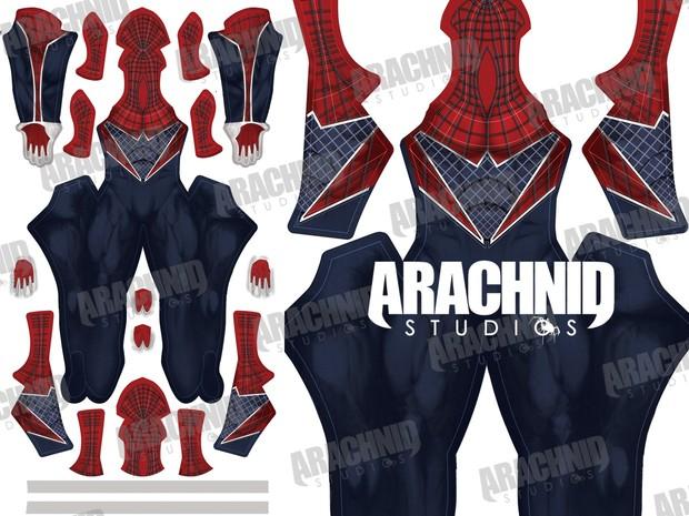 Punk Spider-Man Dye-sub Pattern