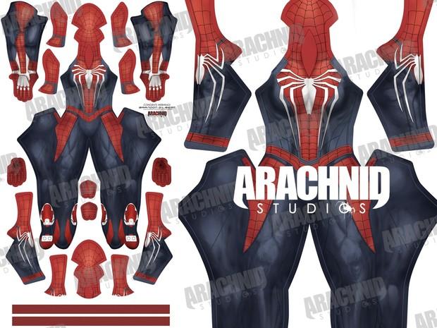 PS4 Female Spider-Man Dye-sub pattern