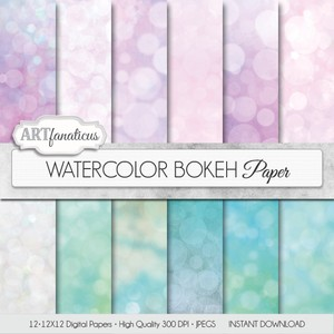 WATERCOLOR BOKEH - DIGITAL PAPER