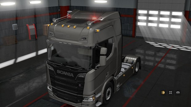 Toplights for Scania S/R 2016