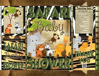 printable-chip-bags-SAFARI-jungle-green-brown-zoo-animals