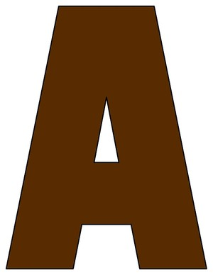 8X10.5  Inch Brown Printable Letters A-Z, 0-9