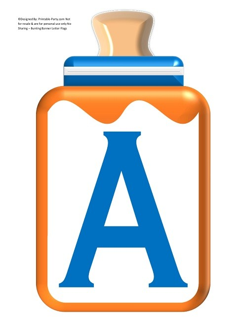 LARGE-BLUE-ORANGE-BABY-BOTTLE-BANNER-LETTERS