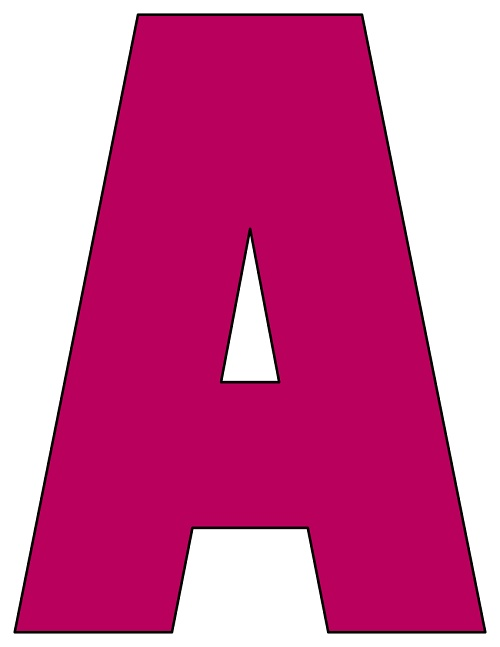 image relating to Printable Letters Az titled 8X10.5 Inch Plum Printable Letters A-Z, 0-9
