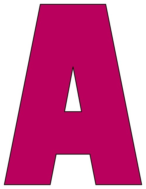 8X10.5  Inch Plum Printable Letters A-Z, 0-9