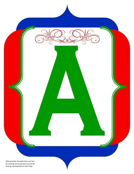 fancy-red-green-blue-printable-banners-letters-numbers