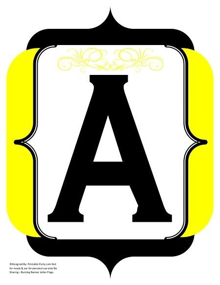 fancy-black-yellow-printable-banners-letters-numbers