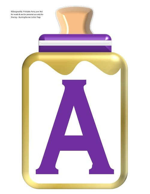 LARGE-PURPLE-GOLD-BABY-BOTTLE-BANNER-LETTERS
