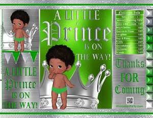 printable-bags-royal-prince-green-silver-boy-baby-shower-african-1