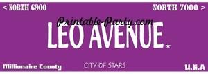 Leo Zodiac Street Signage JPEG Image