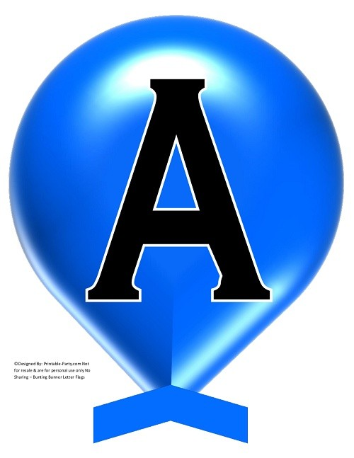 LARGE-TRUE-BLUE-BALLOON-PRINTABLE-BANNER-LETTERS-A-Z-0-9