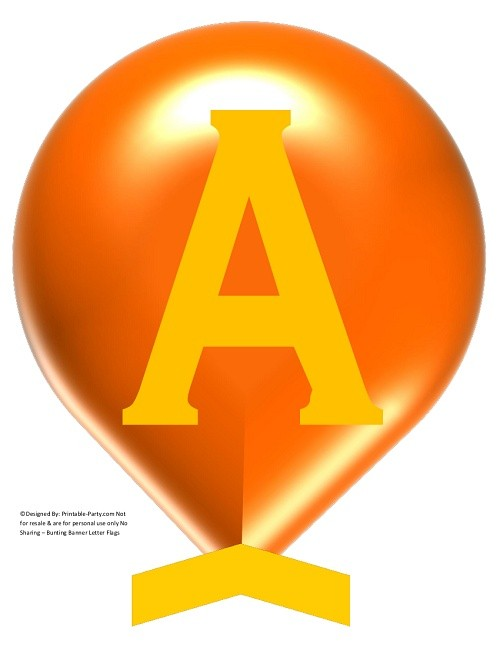 LARGE-ORANGE-YELLOW-BALLOON-PRINTABLE-BANNER-LETTERS-A-Z-0-9