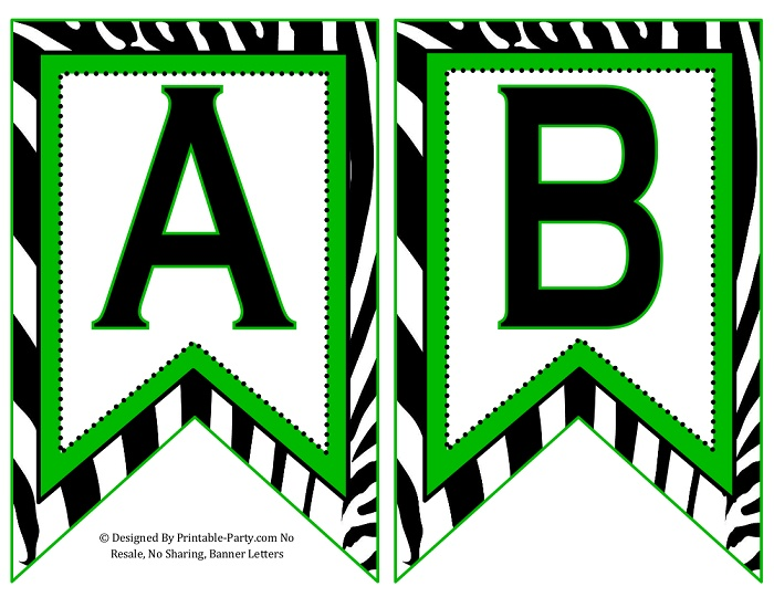 This is a graphic of Printable Letters for Banners for fancy