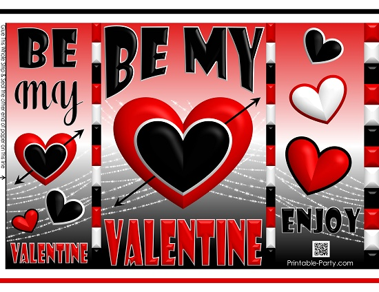 picture about Happy Valentines Day Printable referred to as printable-potato-chip-luggage-content-valentines-working day-reward-6