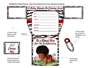 african-american-white-black-tiger-diaper-boy-baby-shower-invitations