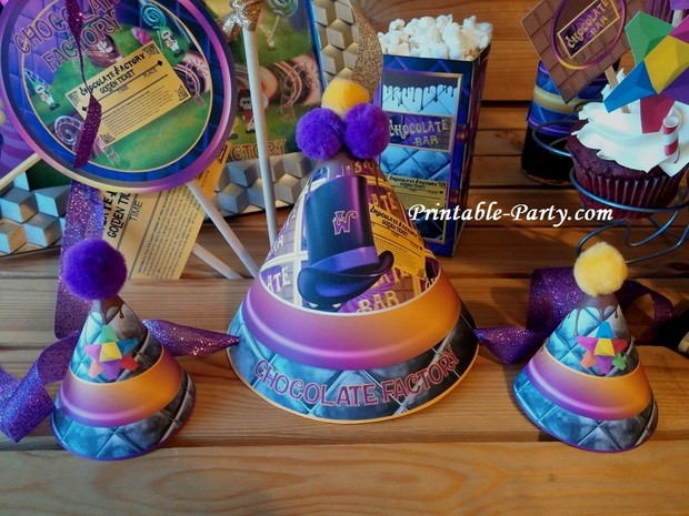 chocolate-factory-printable-party-supplies-hats