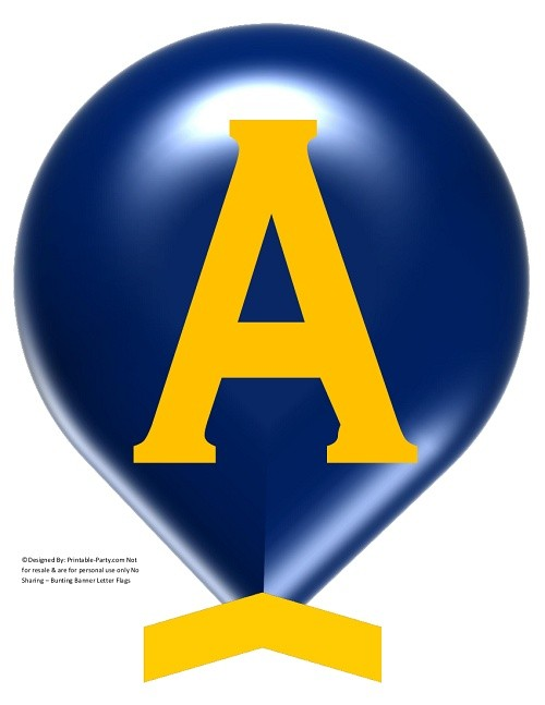 LARGE-NAVY BLUE-YELLOW-BALLOON-PRINTABLE-BANNER-LETTERS-A-Z-0-9