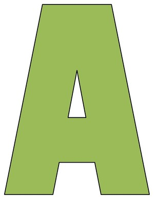 8X10.5  Inch Olive Green Printable Letters A-Z, 0-9