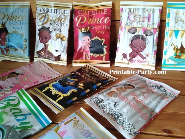 printable-chip-bags-royal-princess-pinkgold-african-baby-shower-1