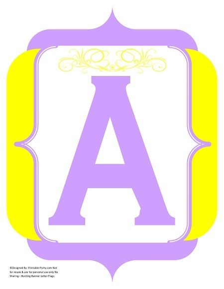 fancy-lavender-yellow-printable-banners-letters-numbers
