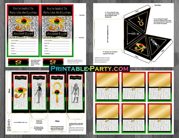 Ancient Egyptian African Printable Party Supplies