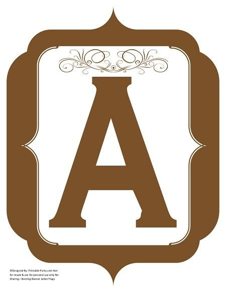 fancy-brown-printable-banners-letters-numbers