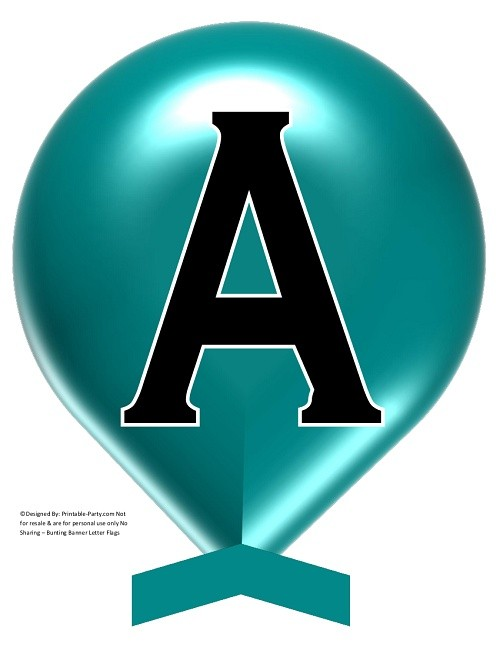 LARGE-DARK-TEAL-BALLOON-PRINTABLE-BANNER-LETTERS-A-Z-0-9