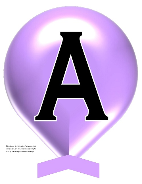 image about Balloon Printable referred to as Significant-LAVENDER-BALLOON-PRINTABLE-BANNER-LETTERS-A-Z-0-9
