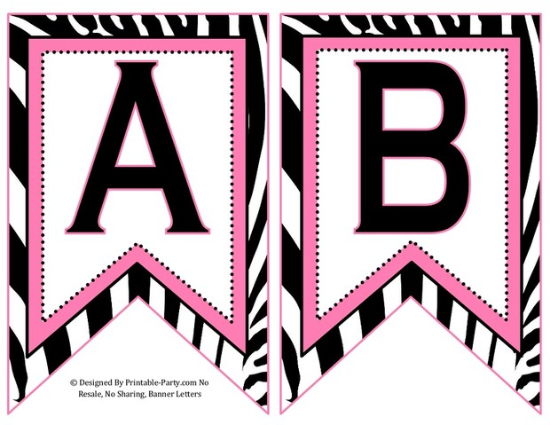 5-inch-swallowtail-light-pink-black-zebra-printable-banner-letters-a-z-0-9