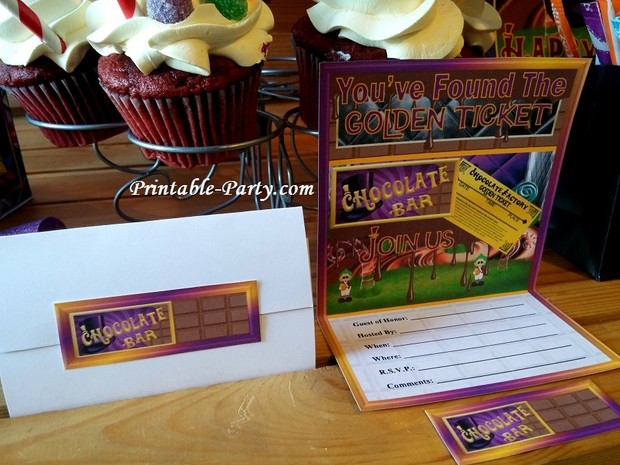 printable-chocolate-factory-party-supplies-invitations