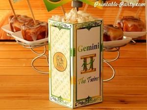 Gemini-zodiac-theme-party-printables-birthday-snack-favor-box