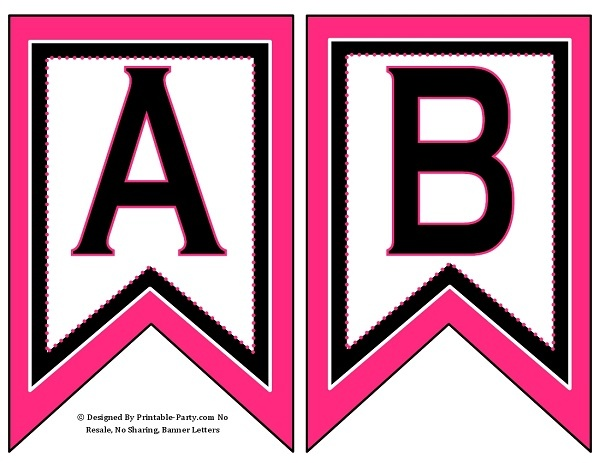 graphic about Printable Banner Letters named 5-inch-swallowtail-purple-black-printable-banner-letters-a-z-0-9