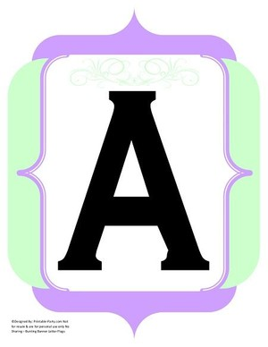 fancy-black-mint-green-lavender-black-printable-banners-letters-numbers