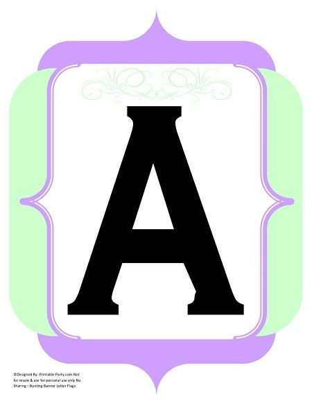 fancy-black-mint-green-lavender-black-printable-banners-letters-numbers