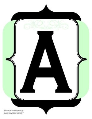fancy-black-mint-green-printable-banners-letters-numbers