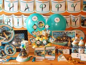 Cleopatra Egyptian Printable Birthday Party Supplies
