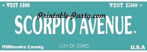 Scorpio Zodiac Street Signage JPEG Image