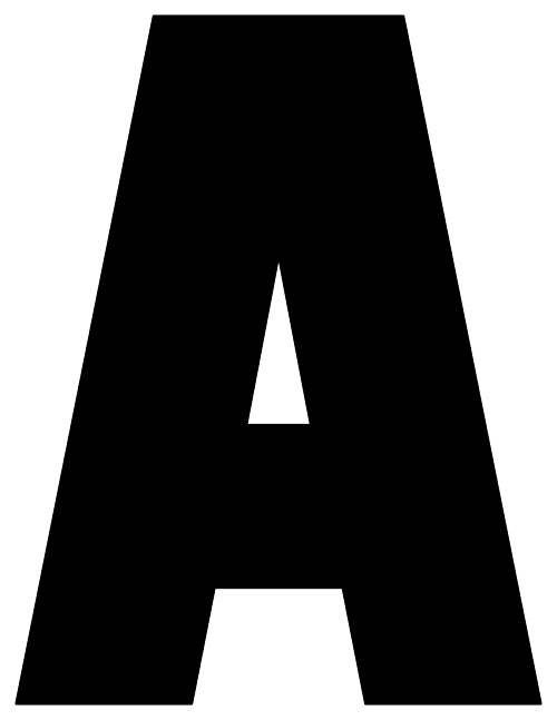8X10.5  Inch Black Printable Letters A-Z, 0-9