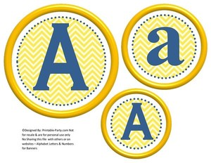 6-inch-blue-yellow-chevron-circle-printable-banner-letters-numbers-a-z-0-9