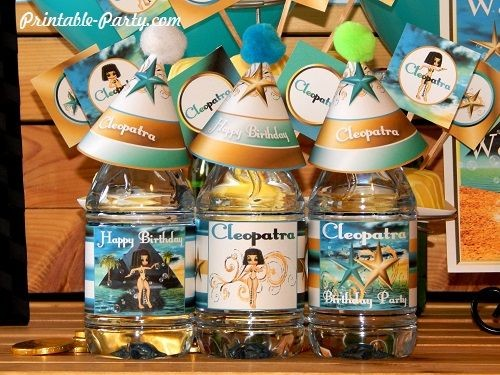 cleopatra-queen-nile-theme-party-printables-water-bottle-labels
