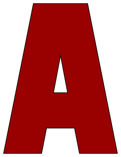 picture regarding Printable Letters Az named 8X10.5 Inch Darkish Crimson Printable Letters A-Z, 0-9