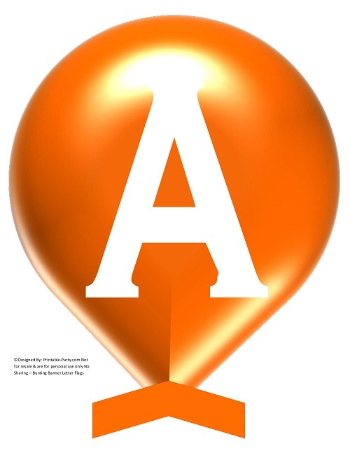 LARGE-ORANGE-WHITE-BALLOON-PRINTABLE-BANNER-LETTERS-A-Z-0-9