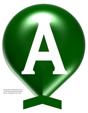 LARGE-DARK-GREEN-WHITE-BALLOON-PRINTABLE-BANNER-LETTERS-A-Z-0-9