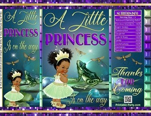 printable-chip-bags-baby-shower-princess-frog-green-purple